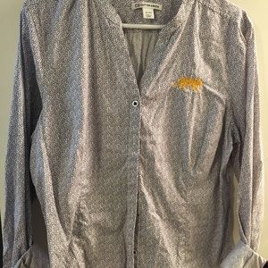 LSU tigers button up blouse